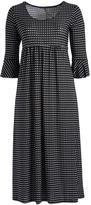Glam Black & White Dot Maxi Dress - Plus