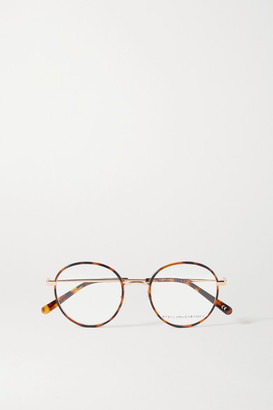 Stella McCartney Round-frame Tortoiseshell Acetate And Gold-tone Optical Glasses