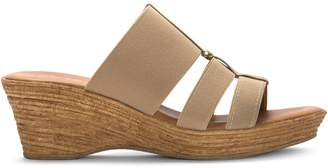 Italian Shoemakers Cut-Out Wedge Sandals
