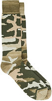 Barneys New York MEN'S CAMOUFLAGE MID-CALF SOCKS