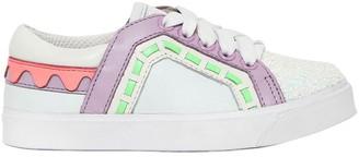 Sophia Webster Riko Mini Leather & Glitter Sneakers