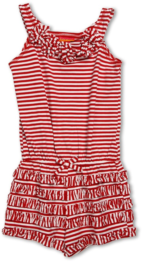 Kate Mack Romper (Big Kids) (Red) - Apparel