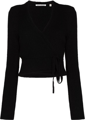 Our Legacy Knitted Wrap-Style Cardigan