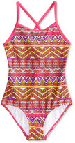 Kanu Surf 1-Pc. Carrie Mixed-Print Swimsuit, Big Girls (7-16)