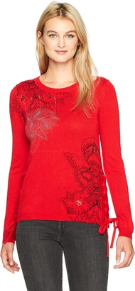 Desigual Women's Abraham Woman Flat Knitted Thin Gauge Pullover