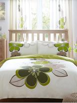 Very Candice Duvet Cover Set - Green (Twin Pack)