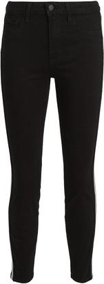 L'Agence Margot Tuxedo Stripe Skinny Jeans