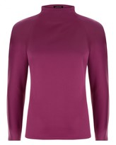 Jaeger Topstitch Funnel Neck Top