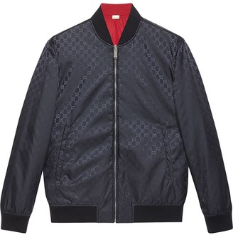 Gucci GG pattern reversible bomber