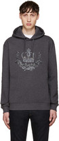 Dolce & Gabbana Grey Embroidered Hoodie