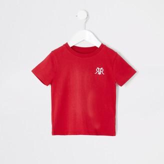 River Island Mini boys Red RVR T-shirt