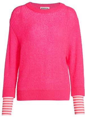 Essentiel Antwerp Voos Rib-Knit Stripe-Cuff Pullover