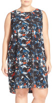 Halogen Sleeveless Shift Dress (Plus Size)