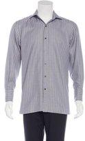Tom Ford Stripe-Embroidered Dress Shirt