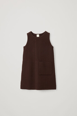 Cos Ribbed Cotton-Wool Dress