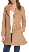 Kensie Women's Notch Lapel Peplum Coat