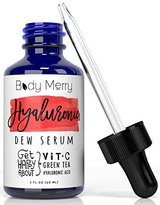 Fine Lines Body Merry Hyaluronic Acid Serum for Anti-aging with Vitamic C and Natural Green Tea, 2 Oz