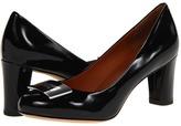Marc by Marc Jacobs Logo Plaque Pump (Black Patent) - Footwear
