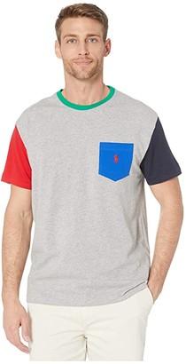 Polo Ralph Lauren Short Sleeve Classic Fit Pocket Tee (White Multi) Men's T Shirt