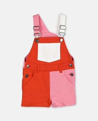 Stella McCartney Kids Color-blocked Denim Overalls, Unisex