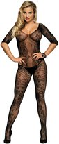 ohyeahlady Women's Fishnet Open Crotch Bodystocking Sleeves Bodysuits tights special gift for her