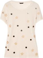 Effie star-embellished jersey T-shirt
