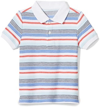 Janie and Jack Striped Polo (Toddler/Little Kids/Big Kids) (Multi) Boy's Clothing