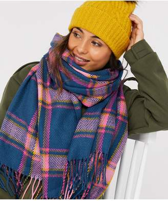 Accessorize Patchwork Cable Pom Beanie Hat - Lime