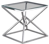 Everly Duguay End Table Quinn Table Base Color: Silver