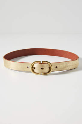 Anthropologie Gilded Buckle Belt