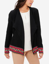 The Limited Patterned Trim Cardigan