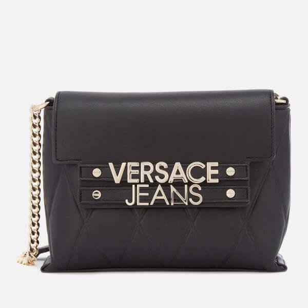 Versace Women's Classic Chain Cross Body Bag - Black