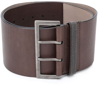 Brunello Cucinelli Wide Buckle Belt
