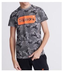 Superdry Men's Core Logo Tag Camo All Over Print T-shirt