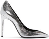 Saint Laurent Silver Metallic Anja Heels
