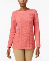 Karen Scott Cotton Multi-Stitch Sweater, Created for Macy's