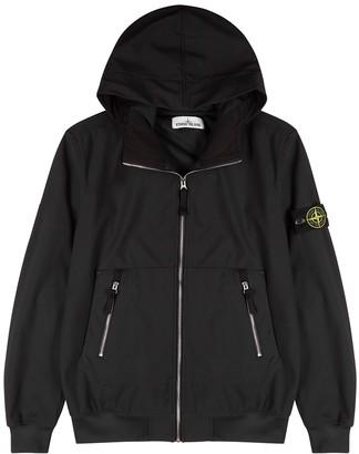 Stone Island Black Hooded Stretch-shell Jacket