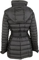 Burberry Woman Long Black Padded Jacket With Belt