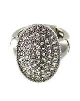 Lizzie Lee Diamante Oval Disc Ring