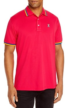 Psycho Bunny Formby Sports Tipped Logo Classic Fit Polo Shirt
