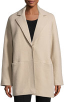 Lafayette 148 New York Oversized Wool Coat, Umber