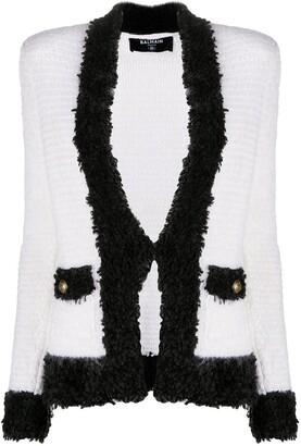 Balmain V-neck boucle jacket