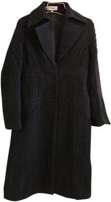 Hoss Intropia Black Wool Coat for Women