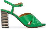 Chie Mihara cross front heeled sandals