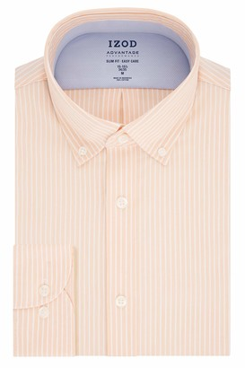 Izod Men's Dress Shirt Slim Fit Stretch FX Cooling Collar Stripe