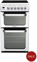 Hotpoint Ultima HUE53PS 50cm Electric Cooker With Ceramic Hob - White