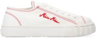 Miu Miu Canvas Low-top Sneakers