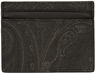 Etro Black Credit Card Holder