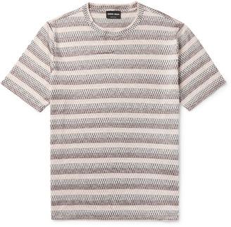 Giorgio Armani Slim-Fit Printed Silk And Cotton-Blend T-Shirt