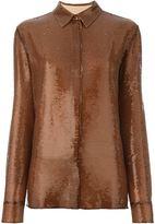 Emilio Pucci sequined shirt - women - Silk - 40